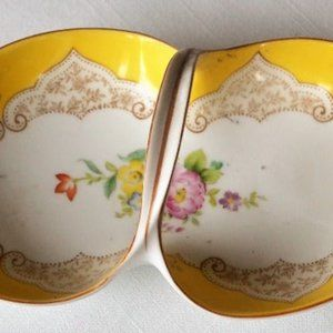 VTG Noritake Hand painted Nut Dish Yellow Flowers